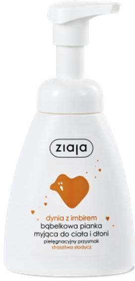 ZIAJA, dynia z imbirem bąbelkowa pianka myjąca do ciała i dłoni, 250 ml