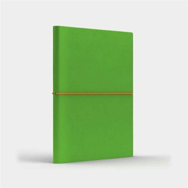 Notatnik B6 Fun S kratka jasnozielony/pomarańczowy - Like U