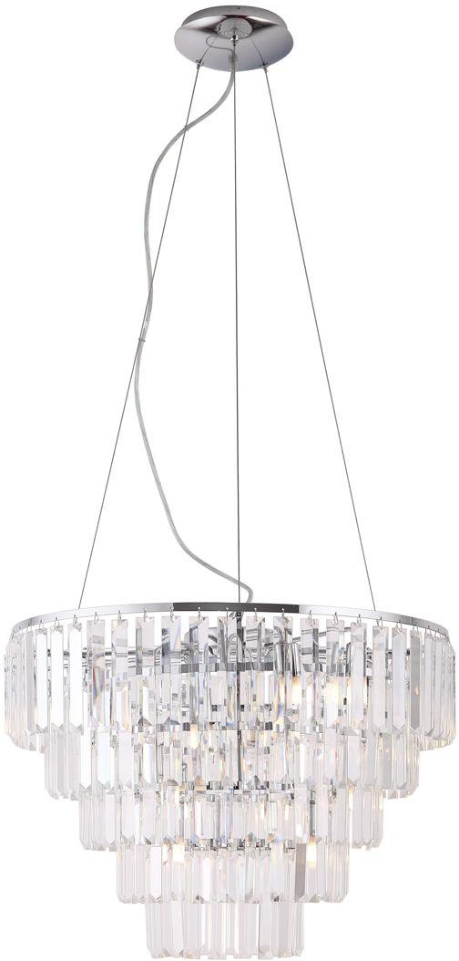 Lampa wisząca Monaco P0260 Maxlight okrągła kryształowa