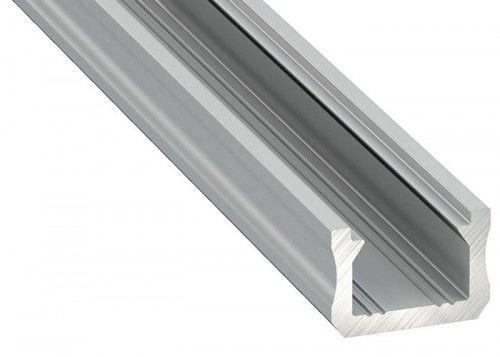 PROFIL typ X 2m srebrny anodowany nawierzchniowy wąski SLIM do TAŚMY LED