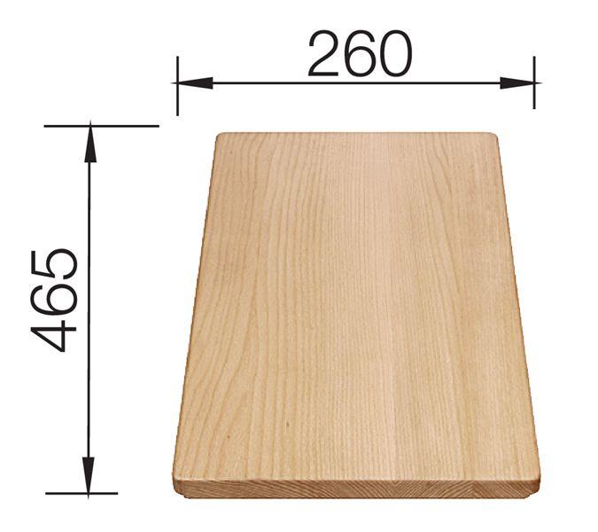 Blanco Deska drewniana buk 465x260 mm