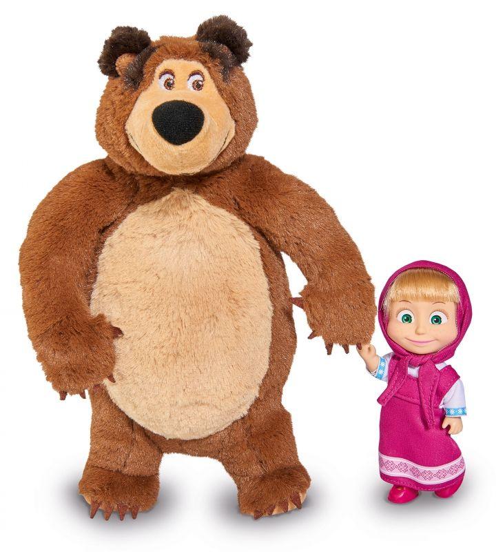 Simba Zestaw 2w1 Lalka Masza i Pluszowy Niedźwiedź LK