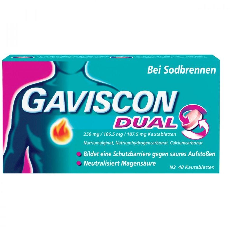 Gaviscon Dual 250mg/106,5mg/187,5mg tabletki do żucia