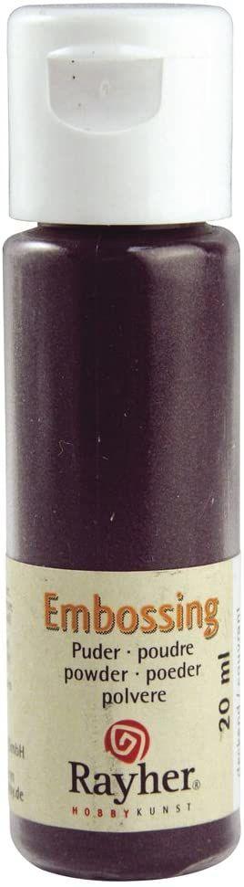 RAYHER 28000304, puder do embossingu, butelka 20 ml, kryjący, jeżyna