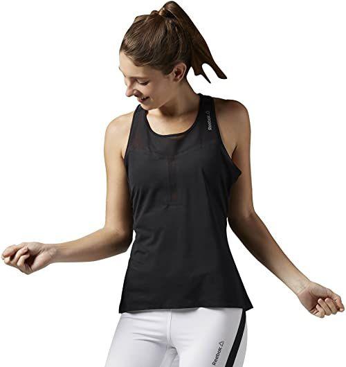 Reebok damska koszulka bez rękawów Cardio Performance Tank, czarna, XL