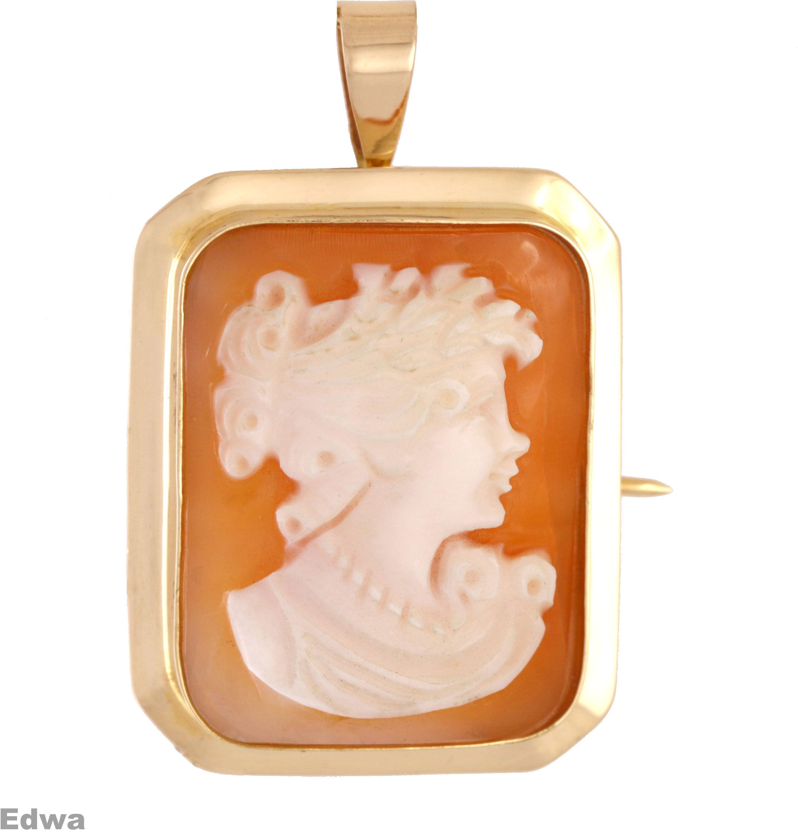 Zawieszka złota Kamea pr.585
