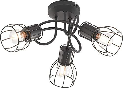 Fischer & Honsel Lampa sufitowa 3 x E14 maks. 25 W czarna matowa