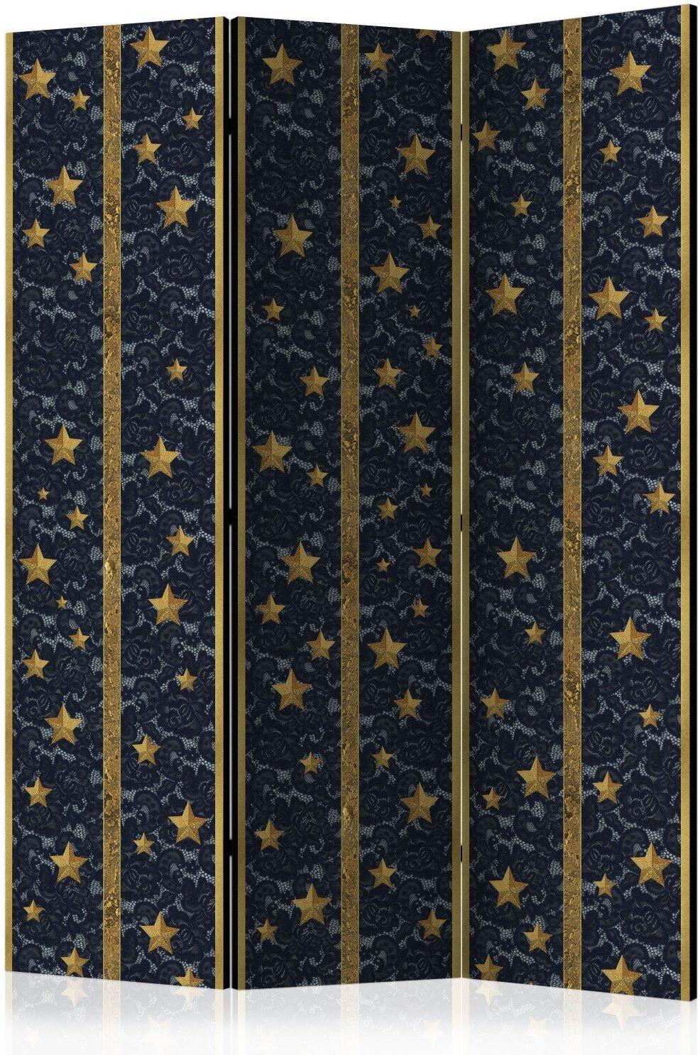 Parawan 3-częściowy - koronkowy gwiazdozbiór [room dividers]