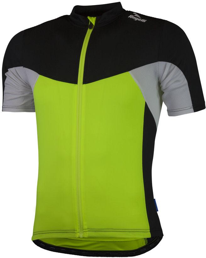 ROGELLI BIKE RECCO 2.0 męska koszulka rowerowa, 001.135 - fluor-czarno-biała Rozmiar: 4XL,rog-rec-fl