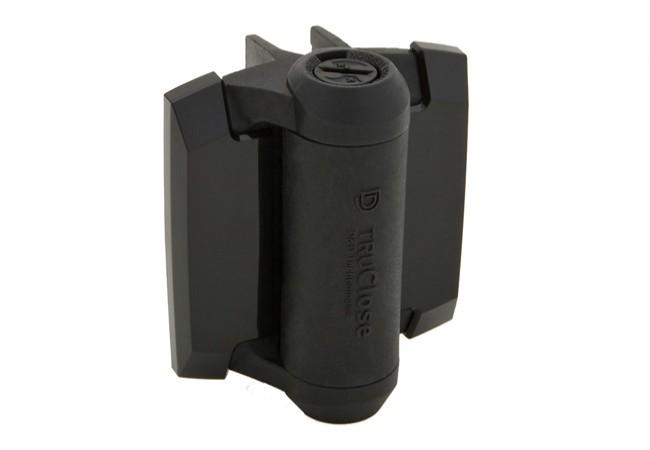 Zawias samozamykający D&D do furtek, dystans 19mm/30kg, (TCA1L2S3BT), czarny (2szt.)