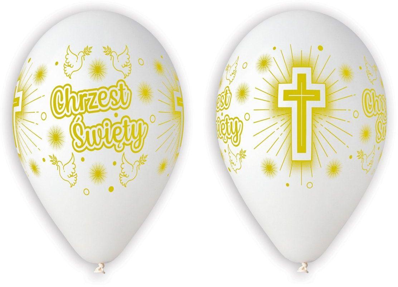 Balony na chrzest - 30 cm - 5 szt.
