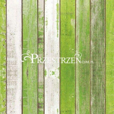SERWETKI PAPIEROWE - Rustykalne deski - ZIELONE