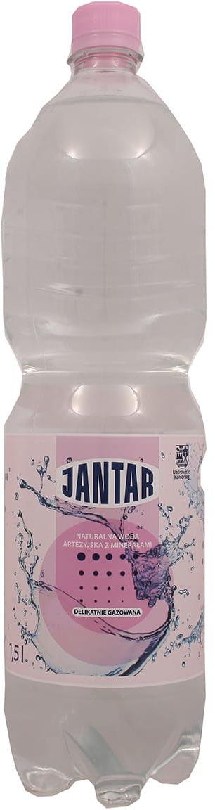 Woda Jantar 1500ml delikatnie gazowana Jantar