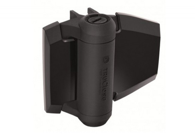 Zawias samozamykający D&D do furtek, dystans 19 mm/30 kg, (TCA2L2S3BT), czarny (2szt.)
