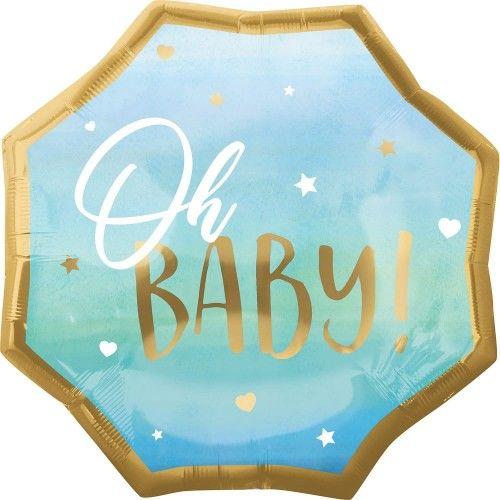Balon foliowy OH BABY, niebieski, duży