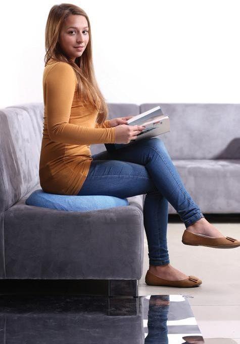Ortopedyczna poduszka do siedzenia dla kobiet Valde S7 : kolor - niebieski