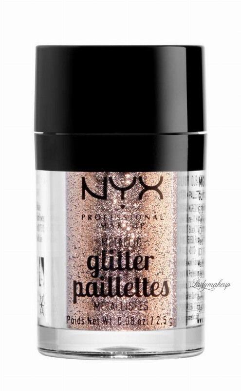 NYX Professional Makeup - Metallic Glitter Paillettes - Brokat do twarzy i ciała - 04 GOLDSTONE