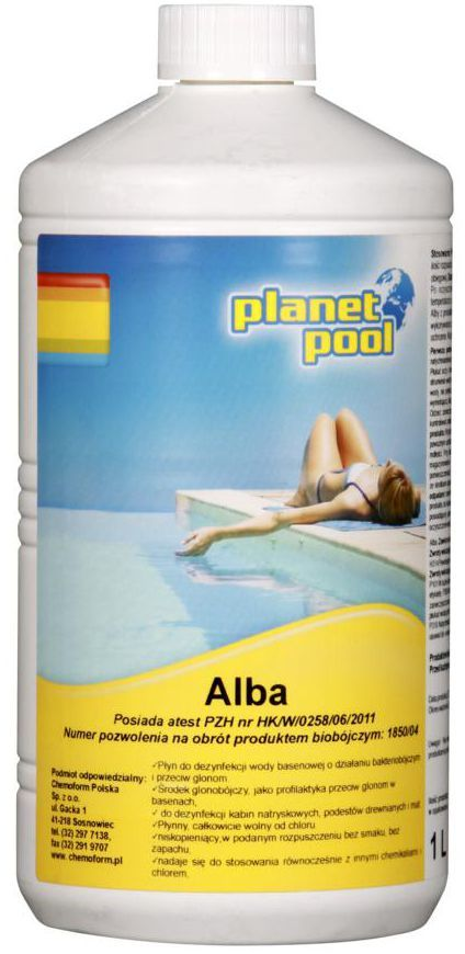 Płyn do basenu 1 l PLANET POOL ALBA