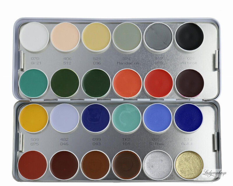 KRYOLAN - SUPRACOLOR - Make-up Palette with 24 colours - Paleta 24 tłustych farb do malowania twarzy - ART. 1008 - K