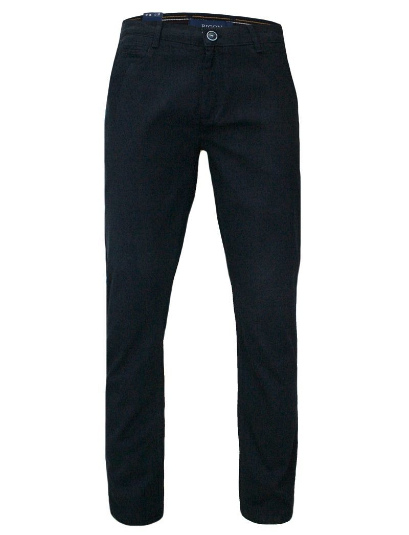 Męskie Spodnie Bawełniane, Chinosy, Zwężane, Ciemnogranatowe SPRGN2207882dnavy