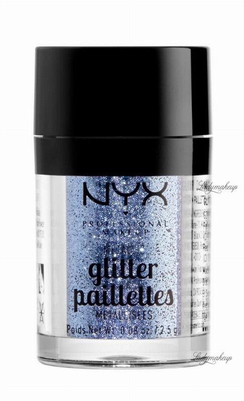 NYX Professional Makeup - Metallic Glitter Paillettes - Brokat do twarzy i ciała - 02 DARKSIDE