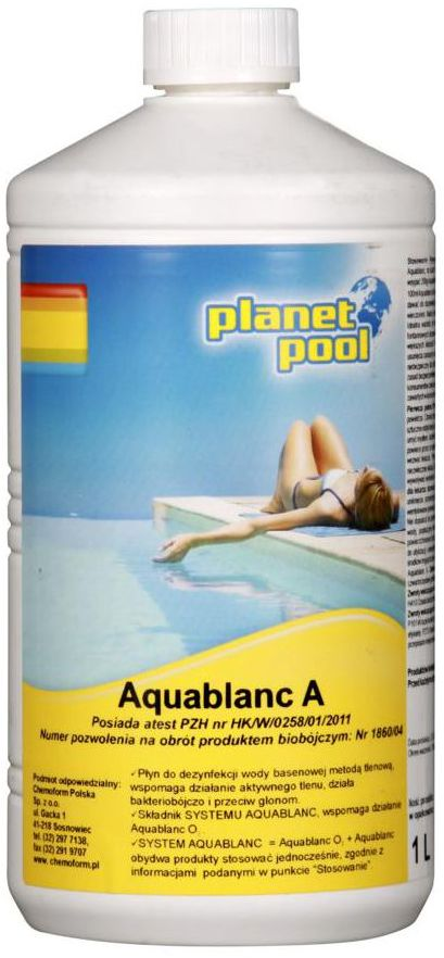 Płyn do basenu 1 l PLANET POOL AQUABLANC A