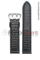 Pasek 380/1/5/18 - czarny, granatowe nici