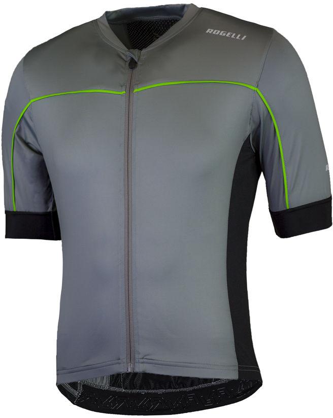 ROGELLI PASSO męska koszulka rowerowa, szaro-zielona Rozmiar: S,rogpasso-grey