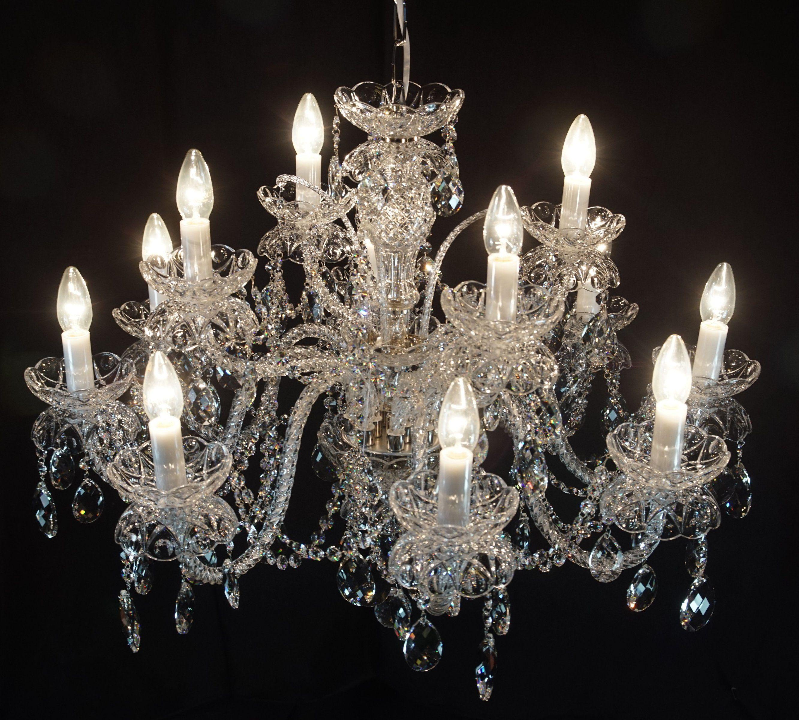 Żyrandol kryształowy 12-ramienny - Elite Bohemia