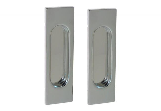 Uchwyt do drzwi przesuwnych prostokątny 125x38 mm. chrom (2 szt.)