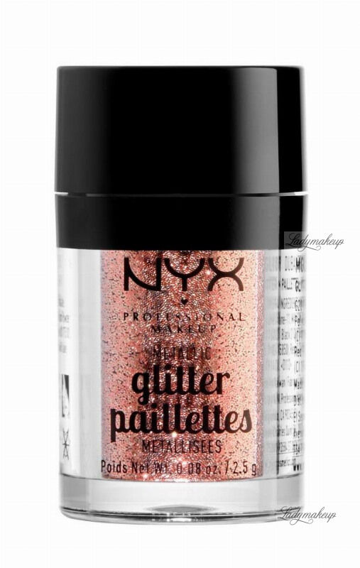 NYX Professional Makeup - Metallic Glitter Paillettes - Brokat do twarzy i ciała - 01 DUBAI BRONZE