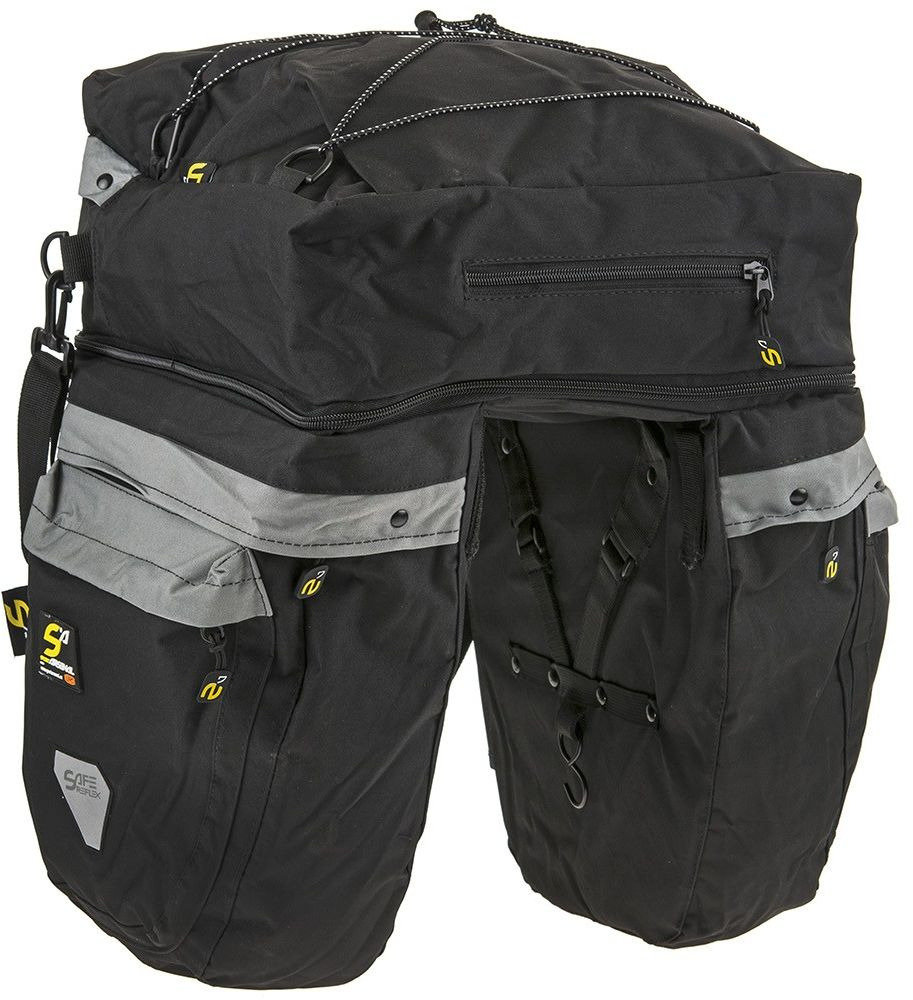 Sakwa na bagażnik Sport Arsenal 465 3 komory czarna
