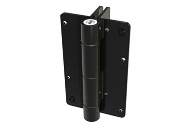 Zawias samozamykający D&D do furtek (KF3L2BL), dystans13 mm/20 kg,ścienno-słupkowy, czarny (2szt.)
