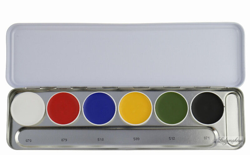 KRYOLAN - SUPRACOLOR - Make-up Palette with 6 colours - Paleta 6 tłustych farb do malowania twarzy - ART. 1007 - A