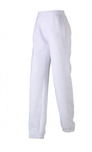 James & Nicholson Damskie spodnie do joggingu Laufhose dla kobiet w ciąży, białe (białe), (rozmiar: XXL)