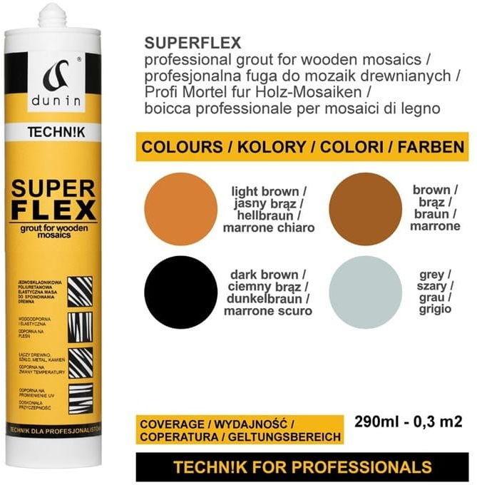 Fuga Superflex Dunin 290 ml do mozaiki drewnianej jasny brąz