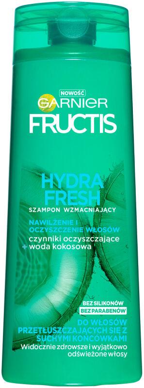 GARNIER - FRUCTIS - HYDRA FRESH - Wzmacniający szampon do włosów przetłuszczających się - 400 ml