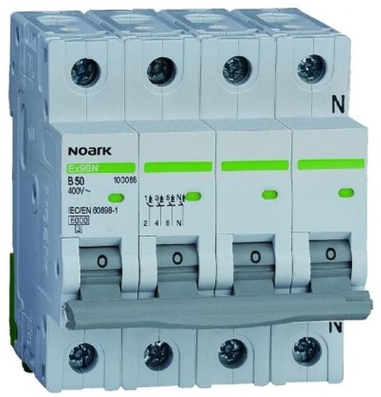 Wyłącznik nadprądowy 3P+N B 20A 6kA AC NOARK 100069