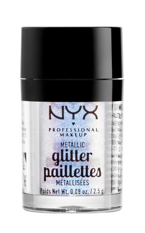 NYX Professional Makeup - Metallic Glitter Paillettes - Brokat do twarzy i ciała - 05 LUMI-LITE