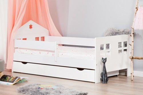 Łóżko 180x80cm Ladybird pojedyncze z szufladą kolor biały