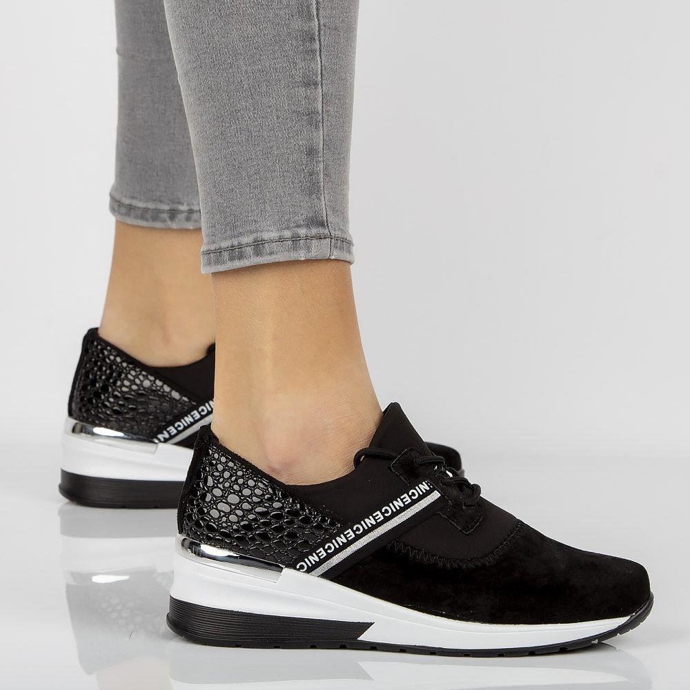 Skórzane sneakersy Filippo DP1388 BK czarne