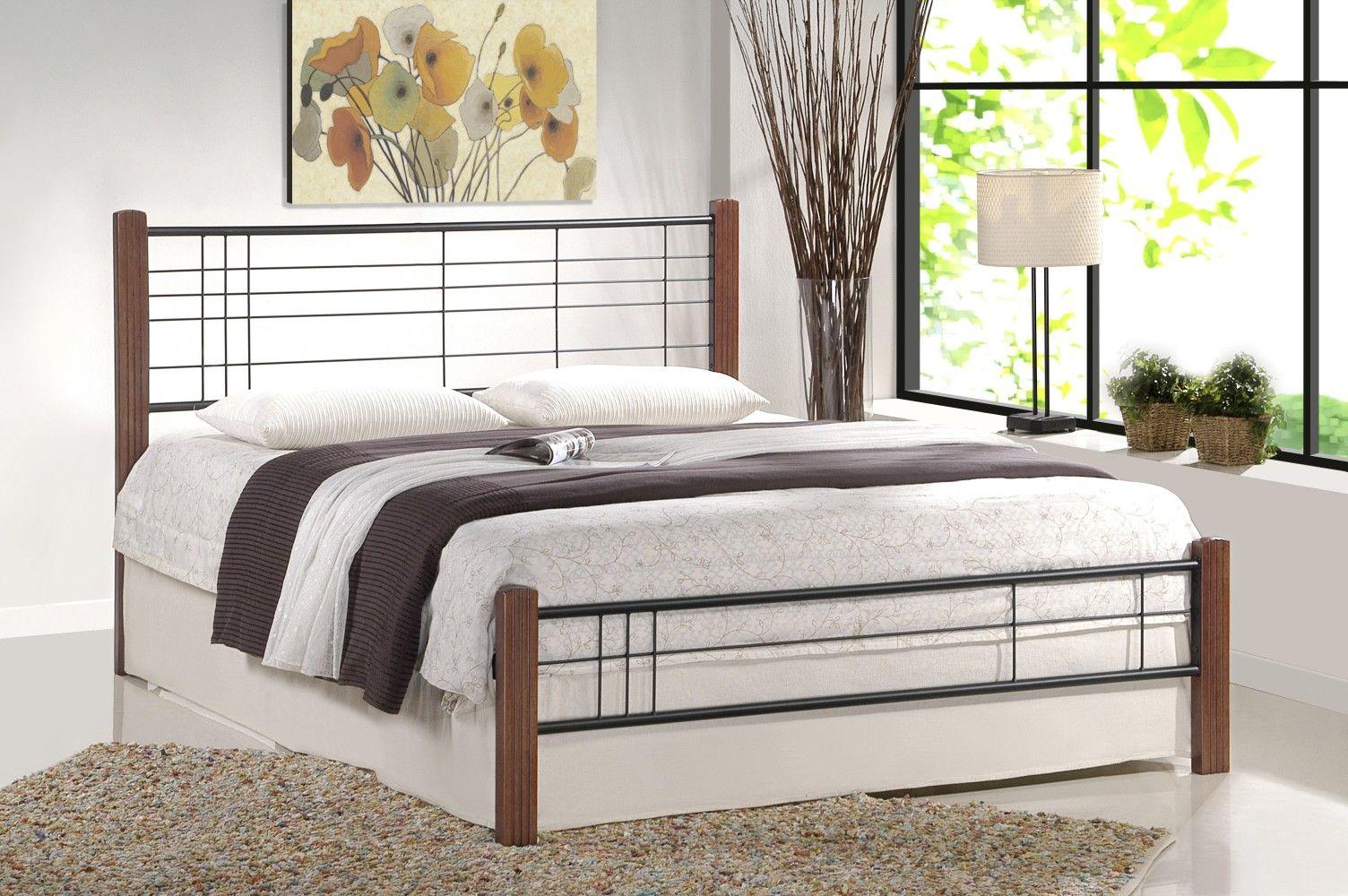 Łóżko SAMARA 180 czarny-czereśnia antyczna