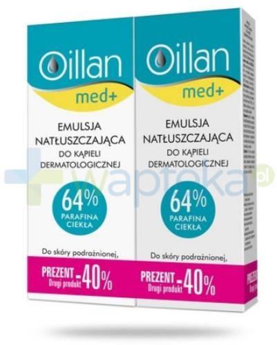 Oillan Med+ emulsja natłuszczająca do kąpieli dermatologicznej 2x 500 ml [DWUPAK]