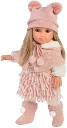 Lalka Elena z blond włosami i niebieskimi oczami, modna lalka z miękkim ciałem, w zestawie modny wygląd, 35 cm