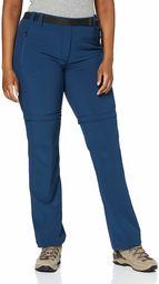 CMP F.lli Campagnolo damskie spodnie do wędrówek z odpinanymi nogawkami, niebieskie, D48