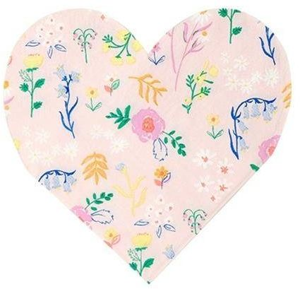 Serwetki serce kwiatki
