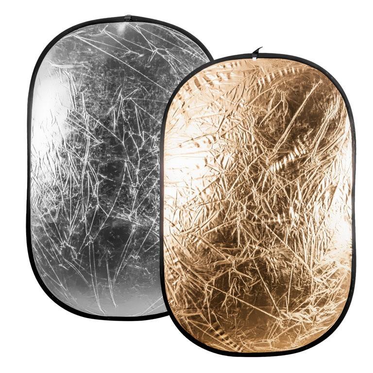 Blenda złoto srebrna Quantuum 180x120 cm - WYSYŁKA W 24H