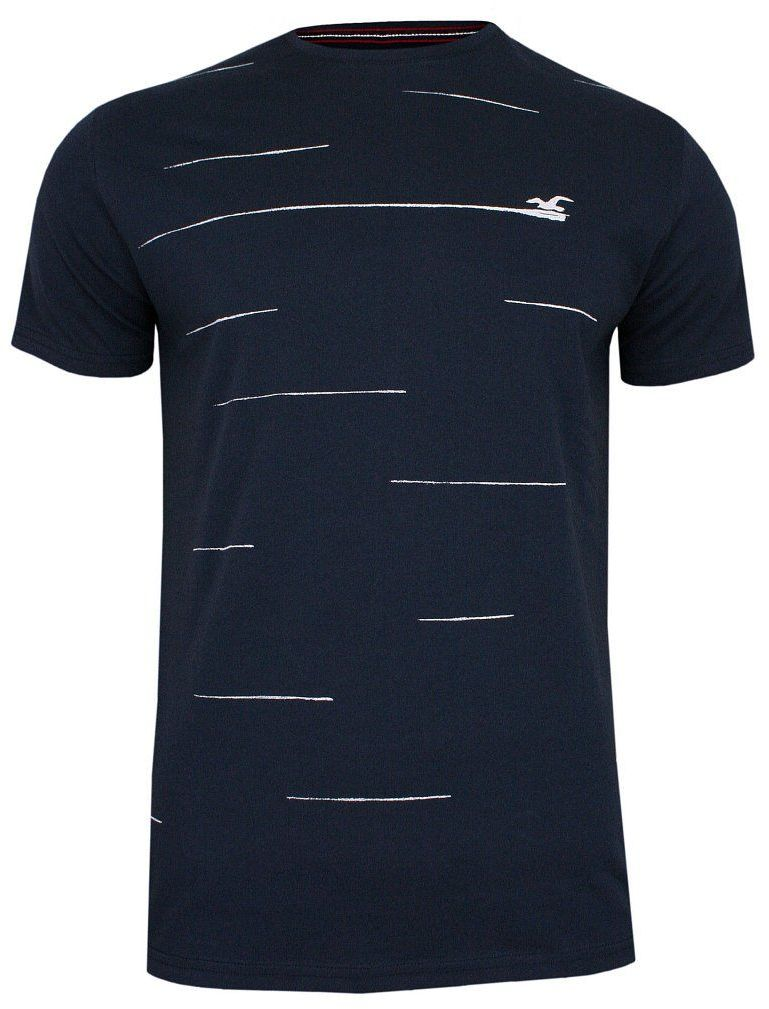 Granatowy T-shirt Męski, Krótki Rękaw -Just Yuppi- Koszulka, z Nadrukiem, w Paski TSJTYUP10016kol3granat