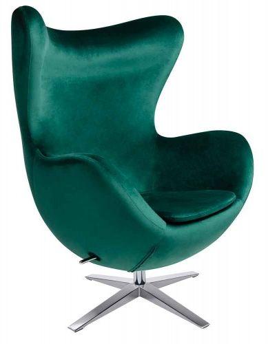 Fotel EGG SZEROKI VELVET zielony