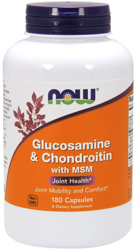 NOW Glucosamine&Chondroitin with MSM 180caps